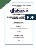 Monografia Evolucion de Las Teorias de La Administracion