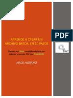 Aprende a Crear Un Archivo Batch, En 10 Pasos (Nost)