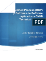 Applying Rational Unified Process (RUP) and Software Design Patterns in CMMi Technical Solution   CIISA 2008