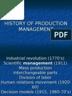 History of OM