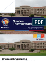 Solution Thermodynamics Lectures