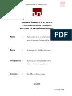 Aplicacion de La Prog Lineal en La Empresa Galletera Dia