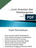 Hukum Investasi Dan Pembangunan