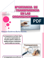 Transparencia en Las Organizaciones
