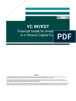 VENTURE CAPITAL FUND Financial Model
