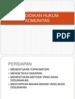 Pendidikan Hukum Komunitas-1