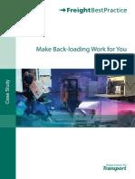 Make Back-Hauling Work for You
