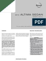 2013 Altima Owner Manual
