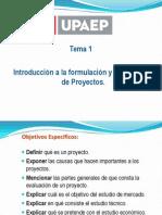 TEMA1. Int. a la Formulación y Evaluación de Proyectos