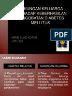 DUKUNGAN KELUARGA TERHADAP KEBERHASILAN PENGOBATAN DIABETES MELLITUS.pptx