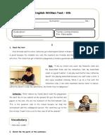 Teste de Inglês - School Subjects_ESL_2