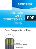 Paint Basics and Corrosion in Metal