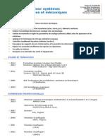 Cv_robert Thomas Monteur Systemes Electriques Et Mecaniques