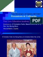 Tema 1 - Pensamiento de Unificacion.