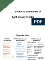Conveyor Belt Calculation