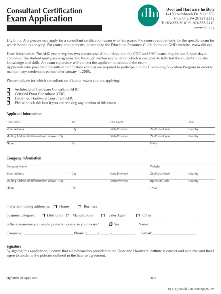 Consult Cert Exam App Zip Code Test Assessment