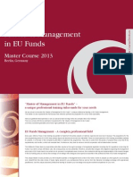 Master of Management in EU Funds DMW