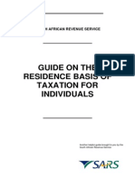 SARS Residence Basis of Taxation for Individuals