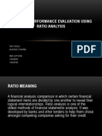 Financial Performance Evaluation Using RATIO ANALYSIS