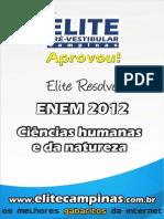 Elite Resolve ENEM 2012 Humanidades Natureza