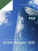 Brochure Kone Resolve 800
