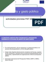 Presupuesto y Gasto Publico PAT 2013