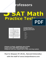 Free Printable Sat Math Test From 5 Sat Math Practice Tests