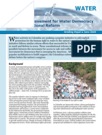 Colombia's Movement for Water Democracy and Constitutional Reform