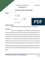 Experiment_08_Determination of Meta-Centric Height