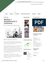 Musica + Arquitectura o Viceversa _ ArQ ULS