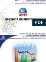 GERENCIA DE PROYECTOS I - SESIÓN 4