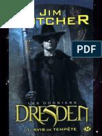 Les Dossiers Dresden 1-Avis de Tempete - Jim Butcher