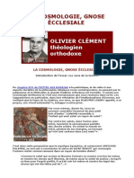 OLIVIER CLEMENT La Cosmologie Gnose Ecclesiale