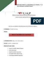 RREACCIONES ALCALINAS-TOXICOLOGIA