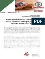COMUNICADO DE IMPRENSA   CARLOS SOUSA - GRANDE RALI DA CHINA - FINAL