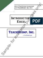 Excel intro 2010