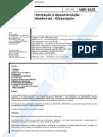 ABNT NBR 6023 2002 – Referências – Elaboração