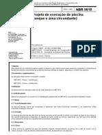 NBR 9818 NB 1070 - Projeto de Execucao de Piscina (Tanque e Area Circundante)