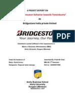 A Project Report On bridgestone
