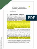 Hobbes's Theory of Representation Anti Democratic or Proto Democratic