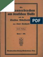 Hans Lienhardt -Ein Riesenverbrechen Am Deutschen Volke