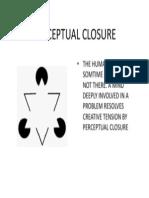 Perceptual Closure