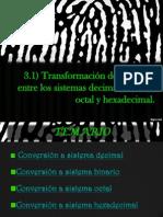CONVERSIÓN ENTRE SISTEMAS DE NUMERACIÓN