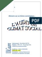 Etude Sur Laudit de Climat Social