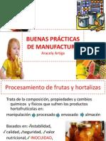 BUENAS PRÁCTICAS DE MANUFACTURA UMD 2013, I PARTE