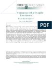 De Grauwe the Governance of a Fragile Eurozone