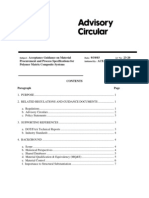 AC 23-20 Acceptance Guidance on Material Procurement and Process Specifications for Polymer Matrix Composite Systems