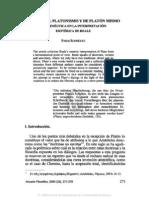6. ACERCA DEL PLATONISMO Y DE PLATÓN MISMO HERMENÉUTICA EN LA INTERPRETACIÓN ESOTÉRICA DE REALE, PABLO RODRÍGUEZ