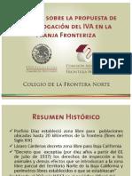 Impacto sobre homologación del IVA en Frontera Norte (2013).