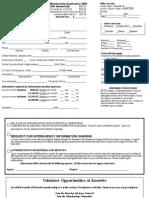 FF Knowles Membership Application